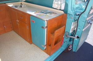 1964 Greenbrier camper package kitchen